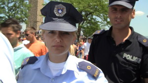 The Serbian police officer Gordana Grujić working for the Kosovo Police.