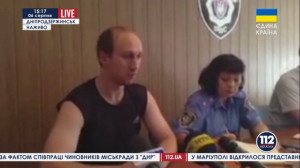 In the press conference, Sergey excused himself for not being properly dressed. The Ukrainian kidnappers had stripped him of his clothes.